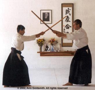 hoa newens 6th dan at Reno Aikido CoOp, uke Peter Slote 4th dan1